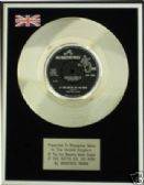 "MANFRED MANN  7"" Platinum Disc -IF YOU GOTTA GO  GO NOW"